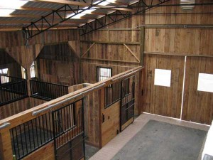 Main barn stalls from upstairs