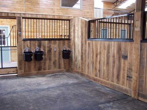 Inside main barn stall